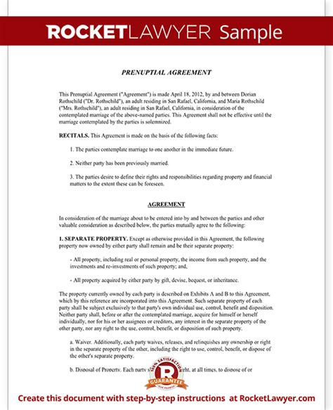 prenuptial agreement template free prenuptial agreement form with sle prenup agreement