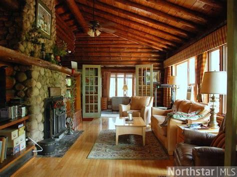 1940 s log cabin cabin interior fireplaces