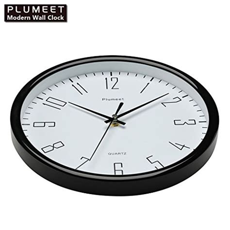 surprise savings on quiet wall clocks plumeet 10 quot silent wall clock with large graceful numbers