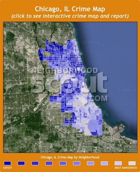 chicago map by crime chicago crime rates and statistics neighborhoodscout