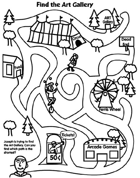 this is not a maze objects color search books festival maze coloring page crayola