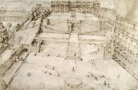 cortile belvedere bramante la prospettiva dell antico lacooltura