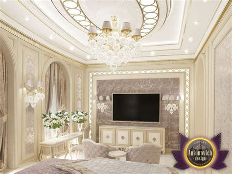 romantisches hauptschlafzimmer villa interior design in dubai saudi arabia madina