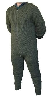 Olive Overall Inner knitted all in one suit