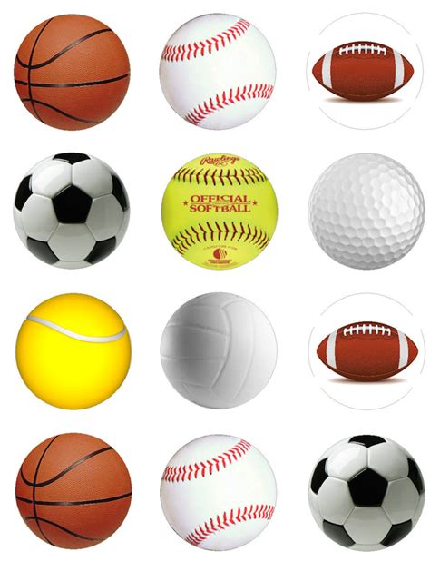 all sports balls pictures to sweet n treats cupake toppers sports