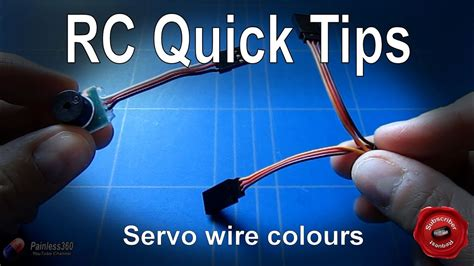 rc quick tip understanding  servo wire colours youtube