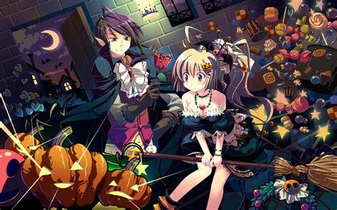 anime girl halloween wallpaper anime halloween wallpaper 54 images