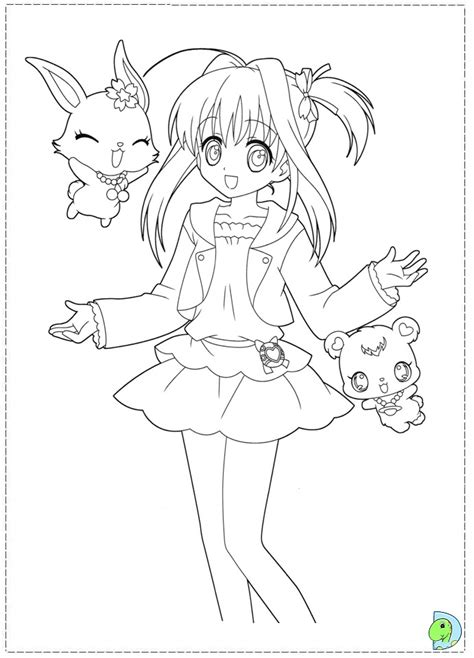 coloring pages jewelpet sapphire