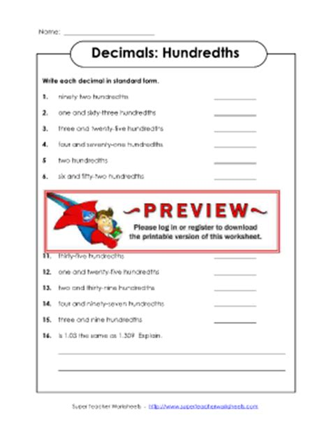hitchhikers in the bathroom common worksheets 187 tenths and hundredths worksheets