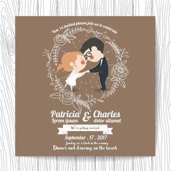 Wedding Invitations With Characters by Husband Vectors Photos And Psd Files Free