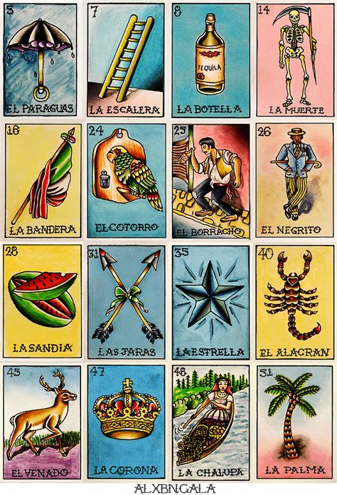 Mexican Chalupa Card Template by Loteria Tabla 2 On Behance