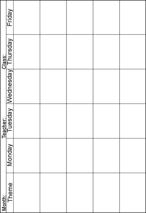 Weekly Lesson Planner Instead Of Theme I Can Print One Out For Each Subject Area Perfect For Blank Theme Template