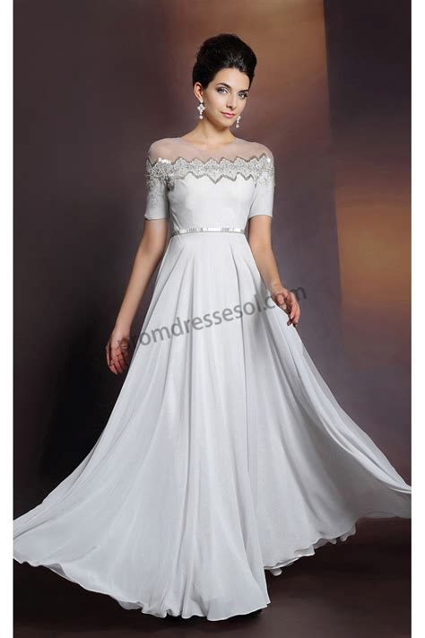 dinner dresses prom dresses white sleeves