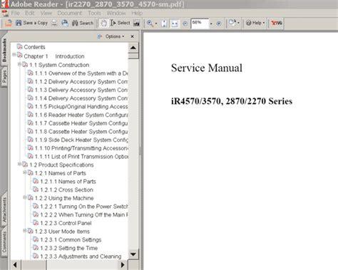 reset canon ir2870 canon ir2270 ir2870 ir3570 ir4570 series service manual