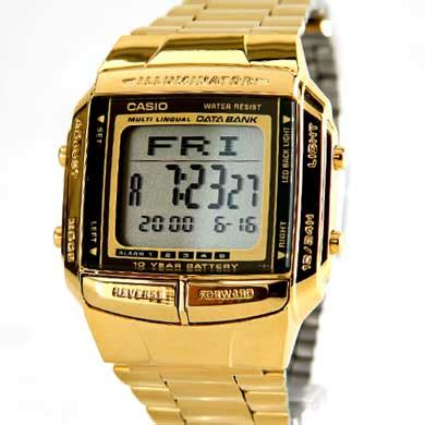 Jam Tangan Digital Led Touch Screen Lis Gold Hijau jam tangan casio db 360 g intermediary
