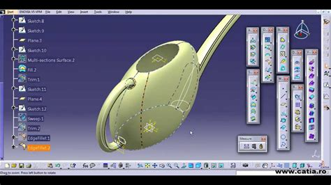 catia v5 cource is here to desigh your plane catia catia v5 surface tutorial for a watering can youtube
