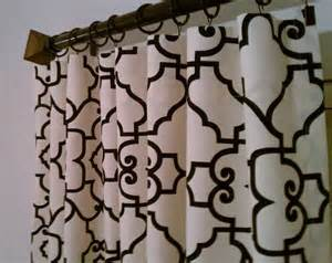 Black And White Lattice Curtains Lattice Covington Trellis Curtains Custom Drapes