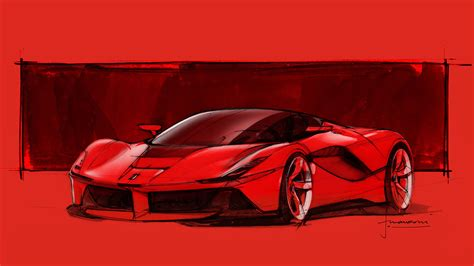 Laferrari Design Sketch By Flavio Manzoni Car Body Design