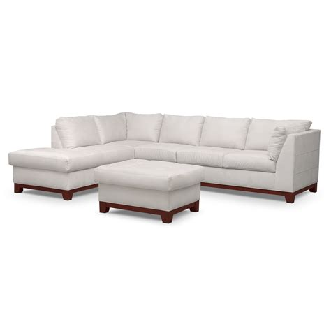 Soho Ottoman Soho 2 Sectional With Left Facing Chaise And Ottoman Cement American Signature Furniture