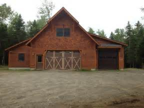 Garage Barn by Vermont Barns Garages Custom Homes John J Read