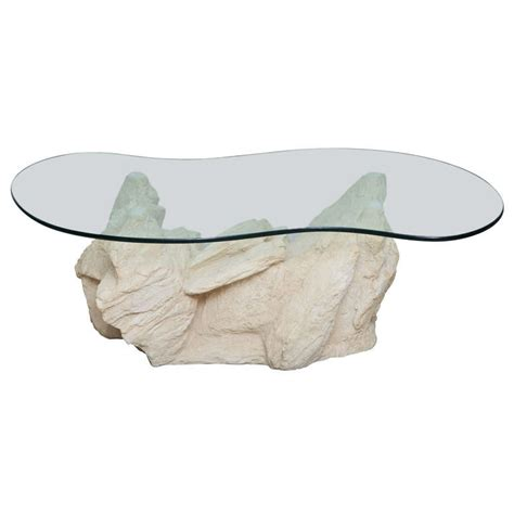 rock coffee table plaster faux rock coffee table by sirmos at 1stdibs