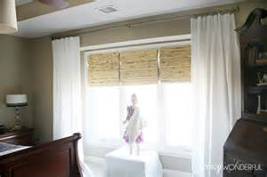 Hanging Curtains High And Wide Designs Windows Drapes For Wide Windows Ideas Window Treatment Idea Window Above The Bed Windows