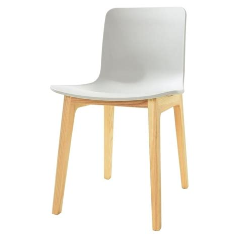 Light Wood Dining Chairs Grey Plastic Dining Chair With Light Wood Legs From Fusion Living
