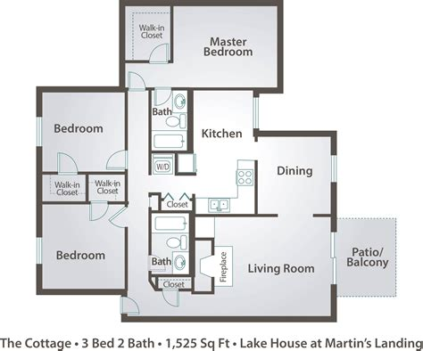 Apartment Floor Plans Amp Pricing The Lake House At Martin