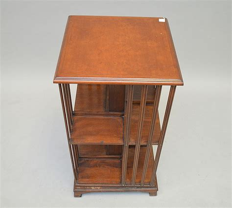 mahogany swivel bookcase circa 1900