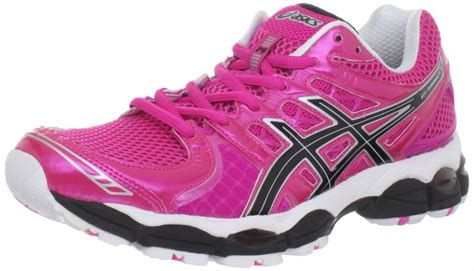 pink athletic shoes asics s gel nimbus 14 running shoe sneakers neon
