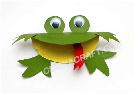 Frog Papercraft - paper plate frog craft children crafts