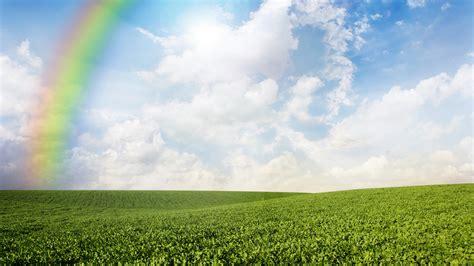 wallpaper meadows   wallpaper  rainbow sky