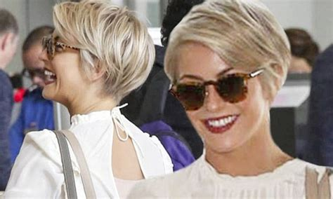 lax haircut styles julianne hough shows off new pixie cut while at lax
