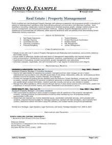 real estate resume entry level real estate resume sle