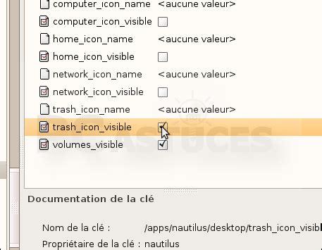 r騁ablir la corbeille sur le bureau ajouter l ic 244 ne de la corbeille sur le bureau linux