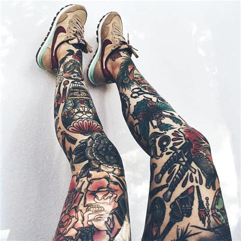 thigh sleeve tattoos 27 leg sleeve designs ideas design trends