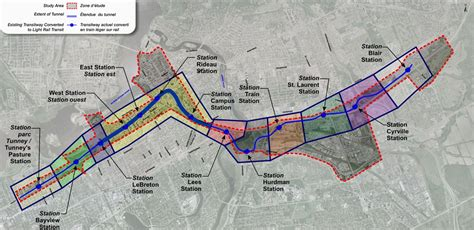 Fig 1 Preferred Alignment Of Ottawa S Lrt Line With