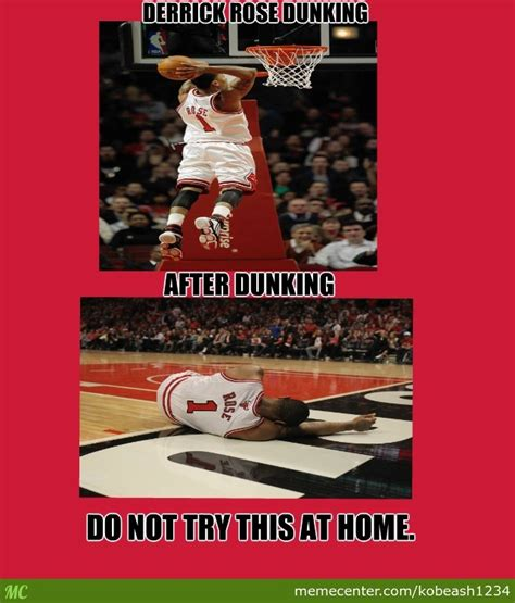 Derrick Rose Injury Meme - derrick rose dunks and gets injured by kobeash1234 meme