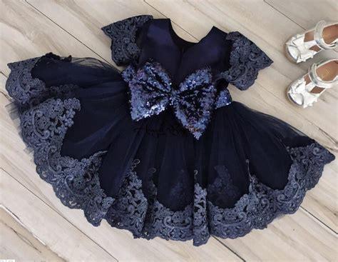 Dress Pesta Anak Navy Blue Dongker Biru Payet Manik Mote Gaun Blink bayi biru dresses untuk prom promotion shop for