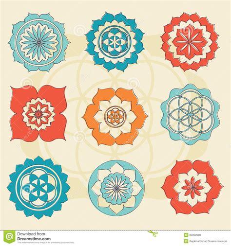 fiore simbolo fiore sacro della geometria dei simboli di vita fotografie