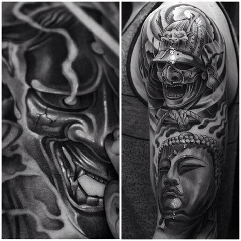 full effect tattoo samurai mask tattoos samurai smoke effect