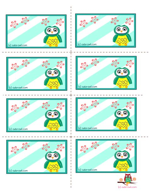 printable owl labels printable colour labels set of colorful labels royalty
