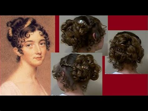 1800s hairstyles women with long hair ball party fancy regency era hairstyle tutorial long hair