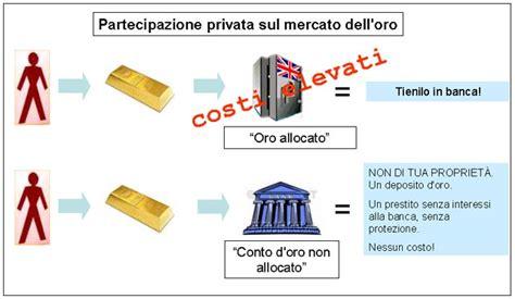 costo cassetta di sicurezza banca presentazione alla ix investor oro oggi