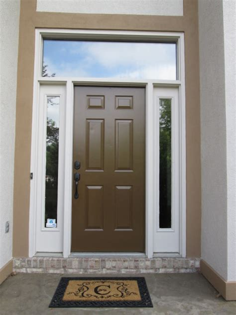 New Provia Signet Fiberglass Entry Door Install Window Above Front Door