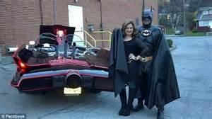 Lamborghini Costume Batman Impersonator Leonard Robinson Known For Batmobile