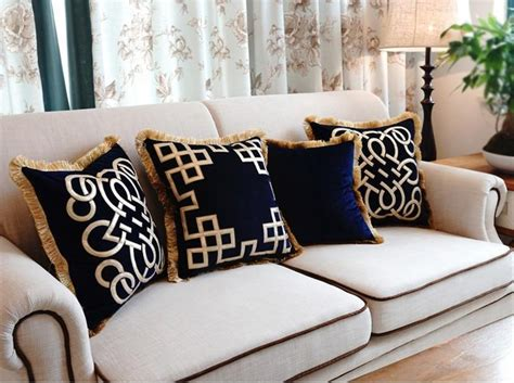 European Embroidered Luxury Cushion Without Inner Luxury Throw Pillows For Sofas