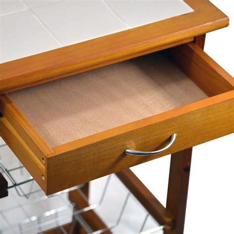 3 4 tier kitchen trolley brown cart basket storage drawer