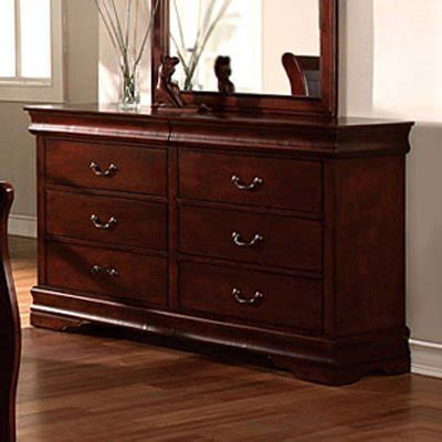 cheap cherry wood dresser louis phillipe ii solid wood cherry finish bedroom dresser