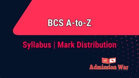 bcs preli written syllabus bpscgovbd
